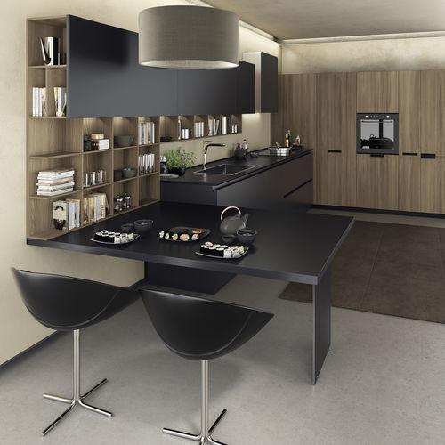 cozinha contemporânea / em melamina / lacada / ecológica