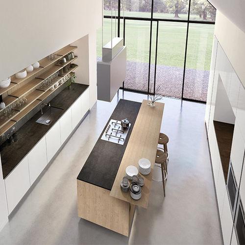 cozinha contemporânea / em ardósia / em inox / em aço