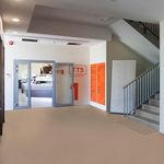 revestimento de piso em vinil / para estabelecimento de saúde / em rolo / liso