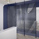 painel decorativo em resina / para divisória / para parede / de alta resistência