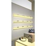 estante de parede / contemporânea / em alumínio / da linha comercial