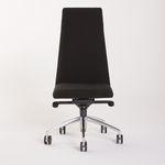 cadeira de conferência contemporânea / estofada / com braços / com rodízios
