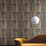 papel de parede contemporâneo / biblioteca / não tecido / com motivos impressos