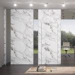 divisória removível / em vidro / em tecido / em mármore
