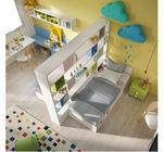 quarto infantil amarelo / em madeira lacada / unissexo