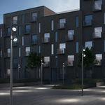 poste de luz urbano / contemporâneo / em alumínio fundido / em vidro