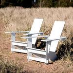 cadeira contemporânea / Adirondack / em polietileno / para ambiente externo