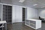 divisória-armário da linha comercial / em madeira / laminada