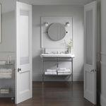 epelho para banheiro de parede / contemporâneo / redondo / em aço
