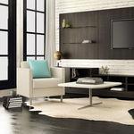 mesa de centro contemporânea / em laminado / em Solid Surface / retangular