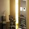 penteadeira contemporâneo / em alumínio / de parede / para salão de beleza