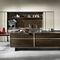 cozinha contemporânea / em inox / com folheado de madeira / escondida