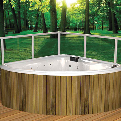 Above Ground Hot Tub Corner 2 Person Outdoor Fisher Wsp Slv Spa8s3520vx