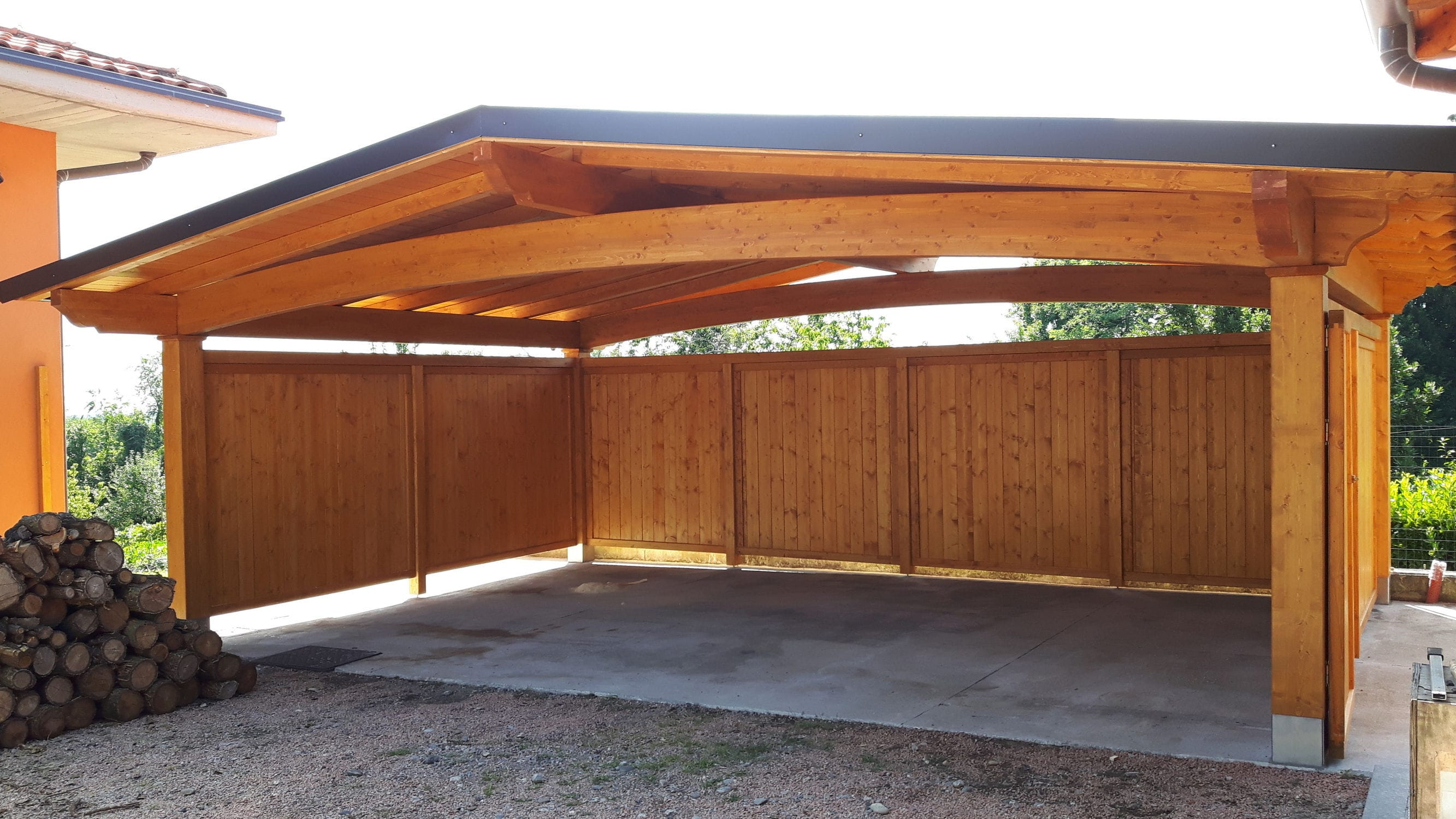 Wooden Carport Arco Proverbio Outdoor Design