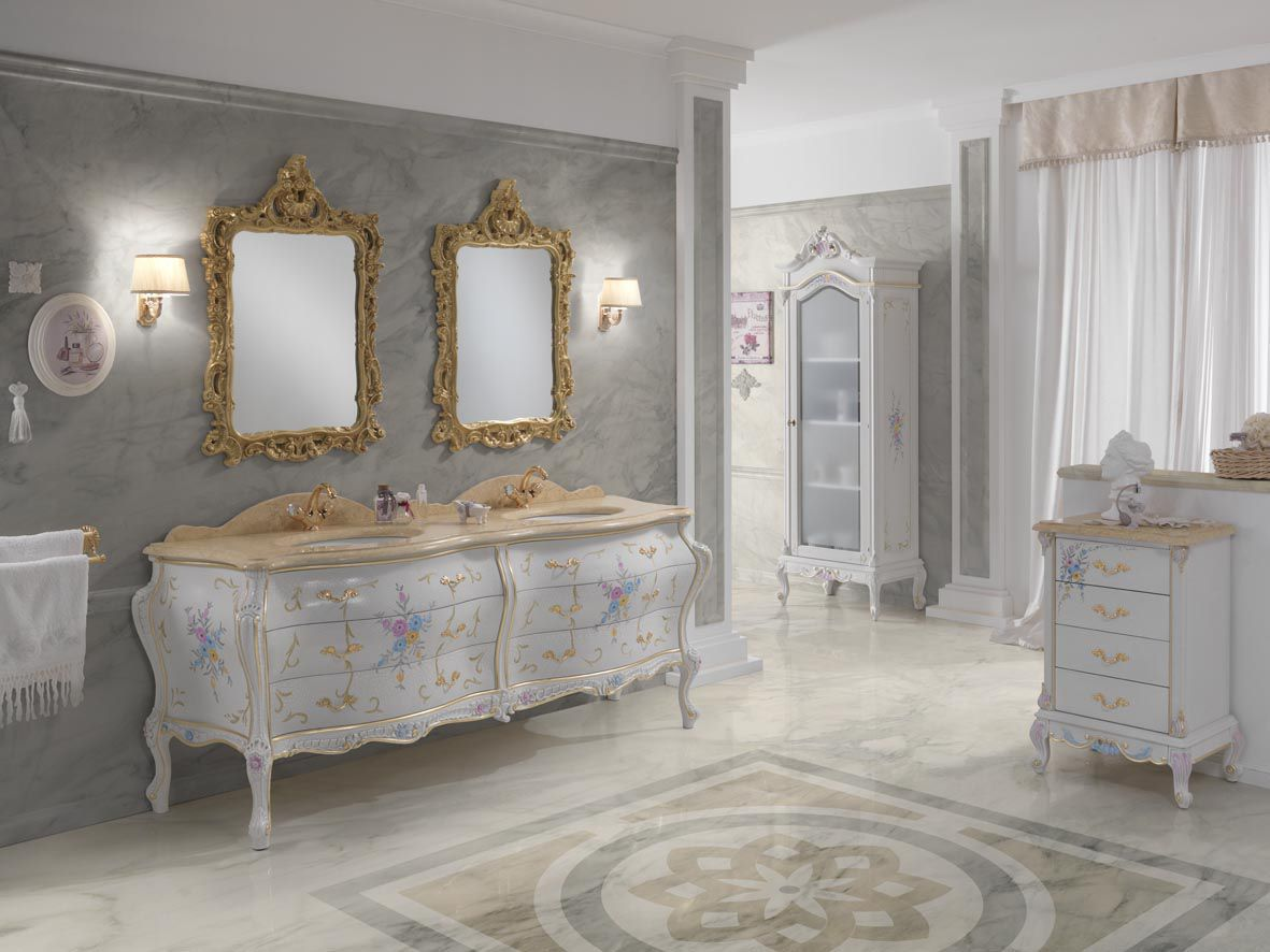 Foto Bagni Stile Country baroque style bathroom - luxury - finitura cracle' - fenice