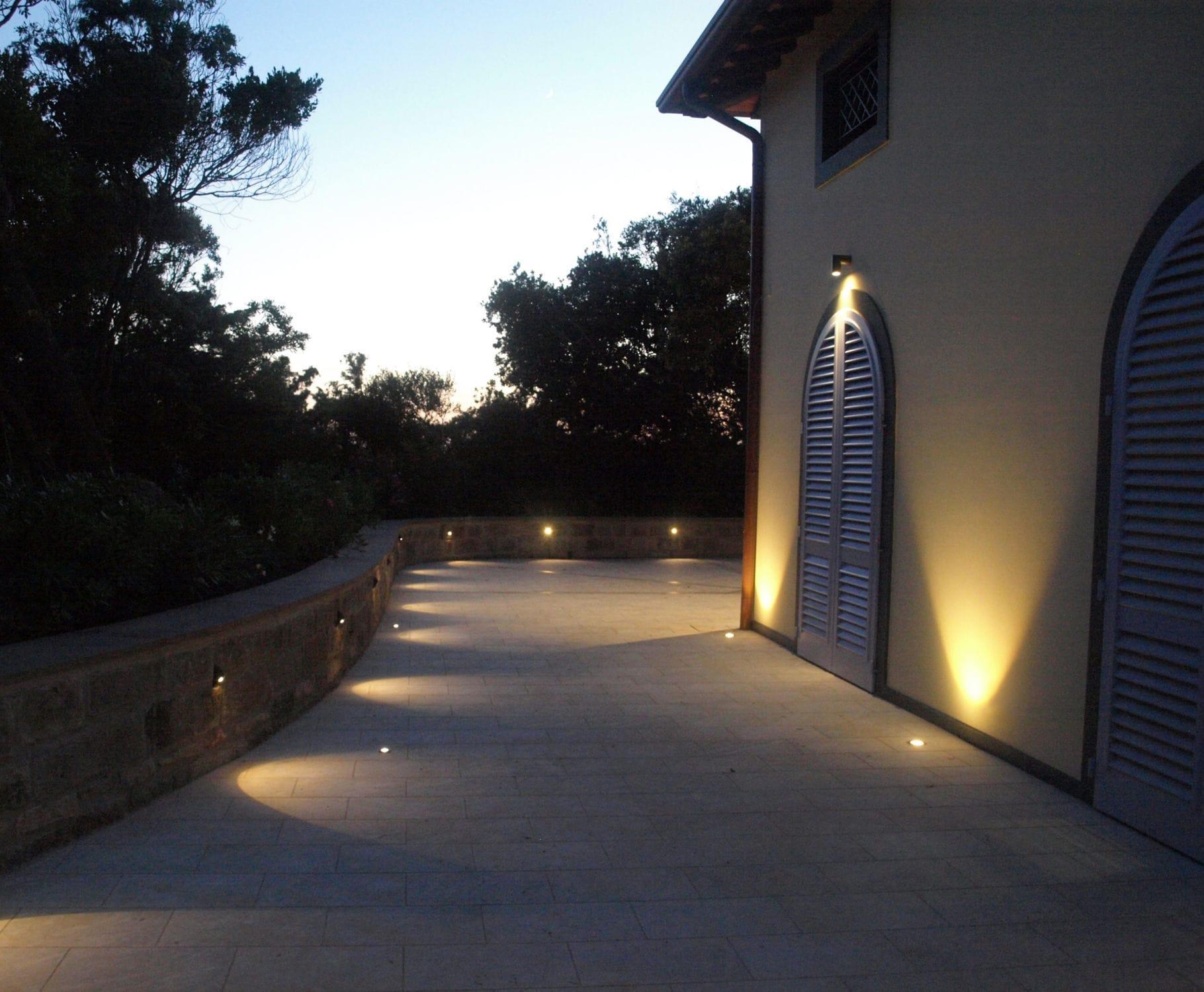 Recessed Floor Light Fixture Klino Puraluce Led Round Outdoor
