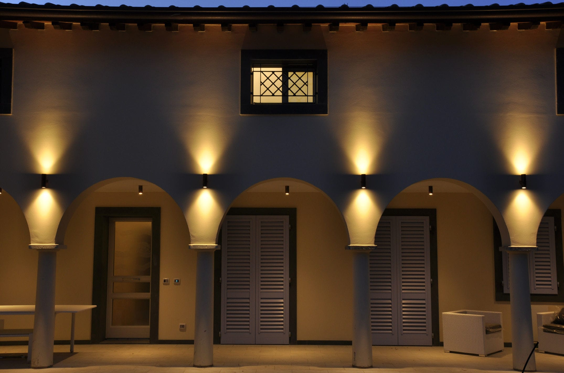 Picture of: Contemporary Wall Light Up Down 65 Puraluce Outdoor Aluminum Brass