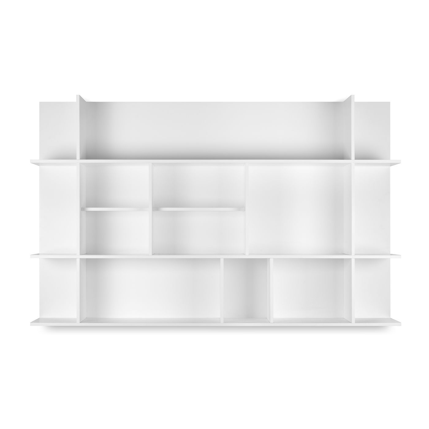 Wall Mounted Shelf Contemporary Lacquered Wood