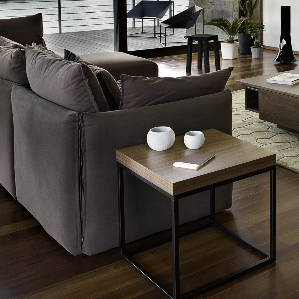 Contemporary Side Table Prairie 50 Temahome Wooden Metal