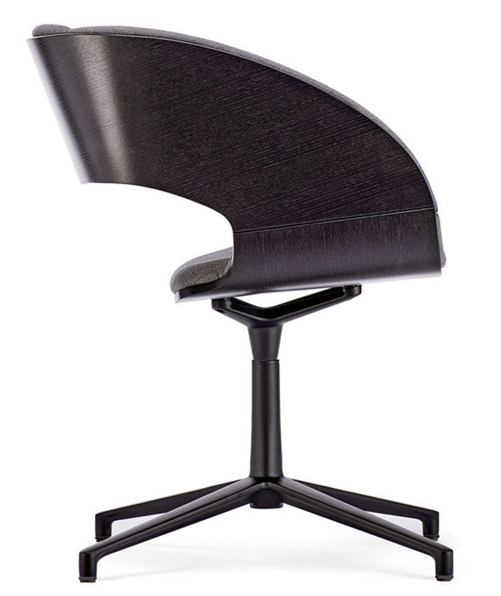 Infiniti Of Charlotte >> Contemporary Chair With Armrests Star Base Swivel