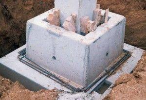 Concrete footing / pocket / precast / reinforced concrete
