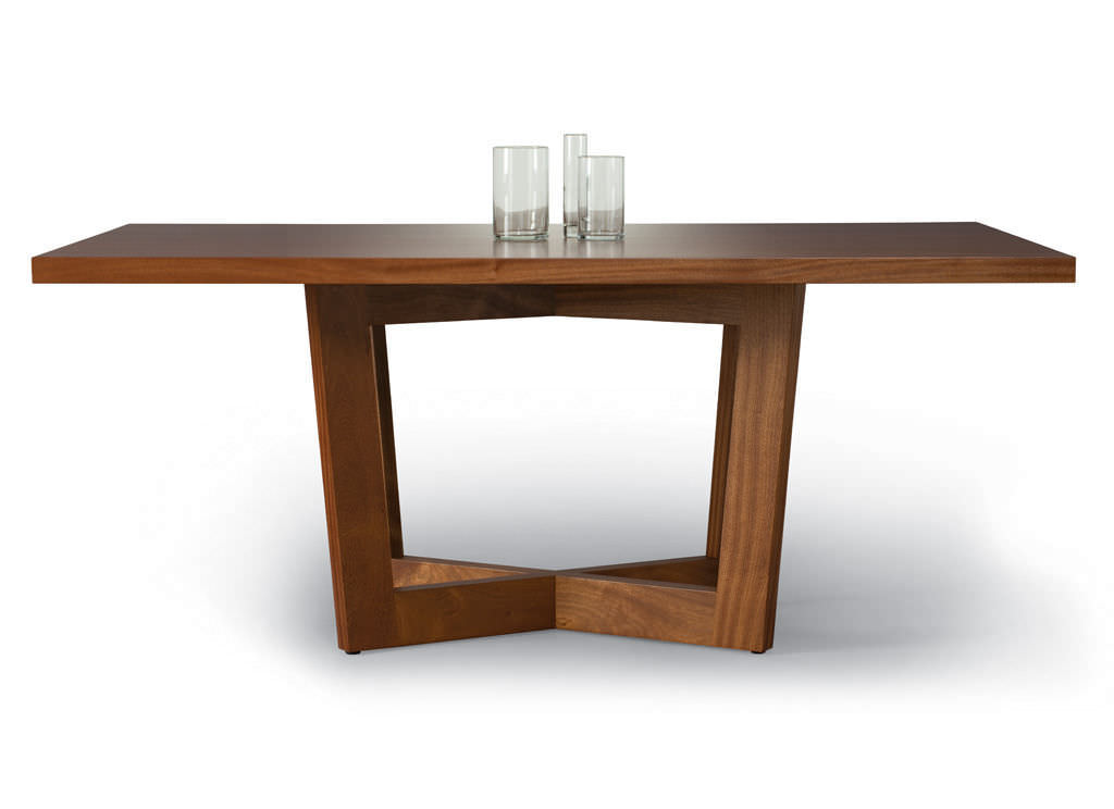Contemporary Dining Table Walnut Rectangular Duette
