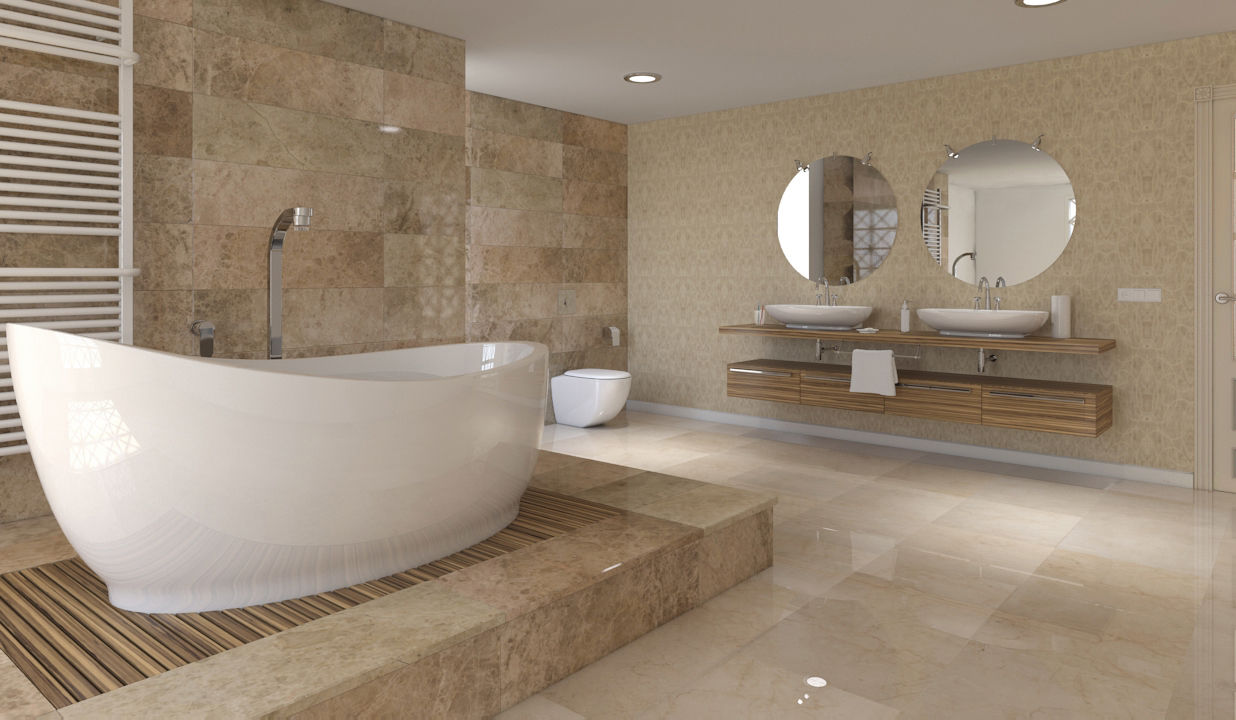 Bathroom Tile Light Emperador Grupo San Marino Wall Floor Marble