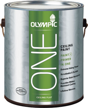 Decorative Paint For Ceilings Low Voc Olympic One