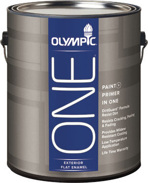 Self Priming Paint For Walls Olympic One Exterior