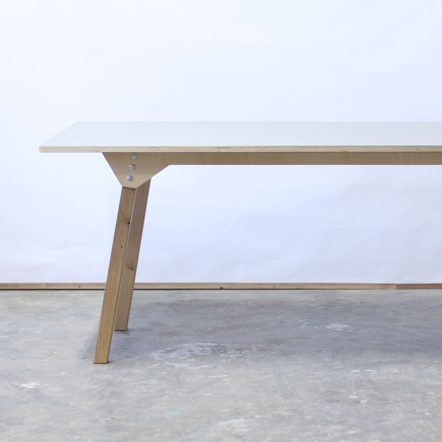 Astounding Contemporary Dining Table Oak Birch Plywood Caraccident5 Cool Chair Designs And Ideas Caraccident5Info