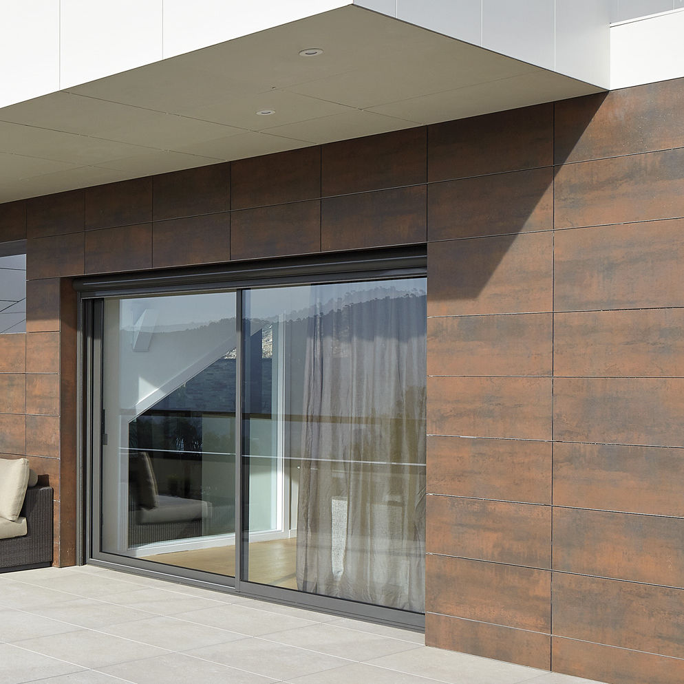 Panel Cladding Iron Corten Neolith Sintered Stone Satin