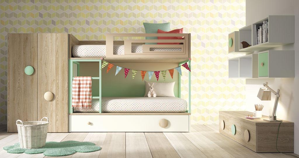 Wooden Children S Bedroom Furniture Set Amberes Lagrama Unisex