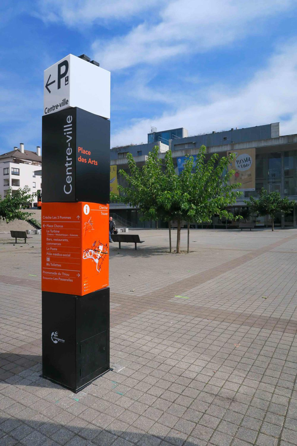 Signage Totem Led For Public Spaces Municipality Of