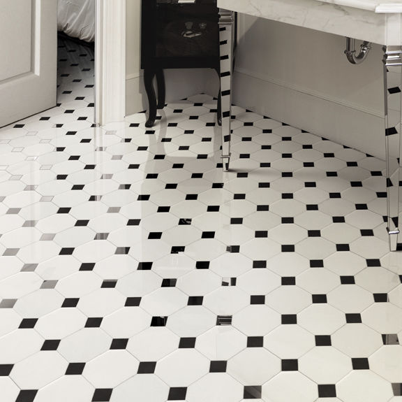 Bathroom Mosaic Tile Floor Marble White Elite