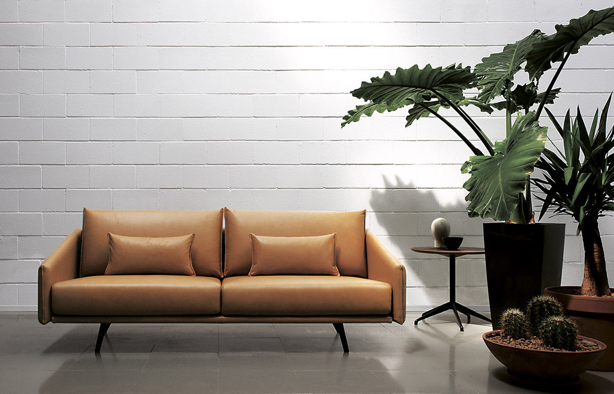 Modular Sofa Contemporary Fabric Leather Costura By