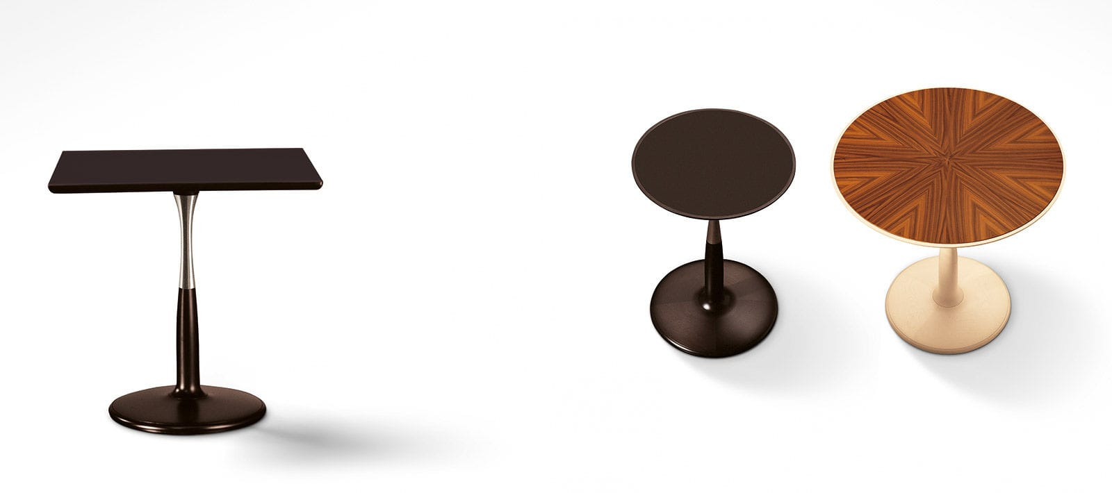 Contemporary Pedestal Table Maple Round Square Oti By Chi