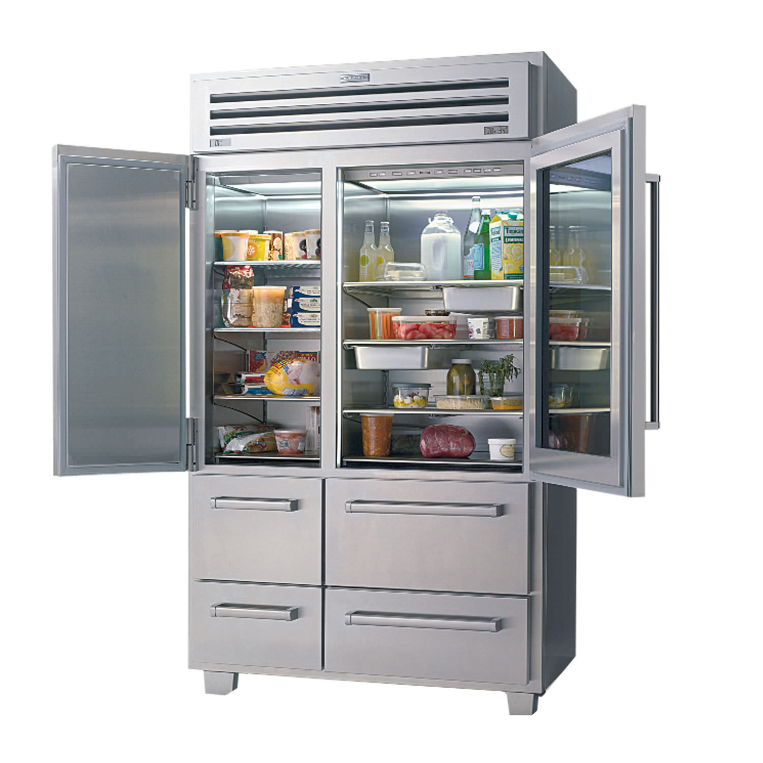 American Refrigerator Freezer With Drawer Gl Stainless Steel
