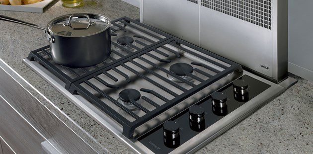 Gas Cooktop With Grill Cast Iron