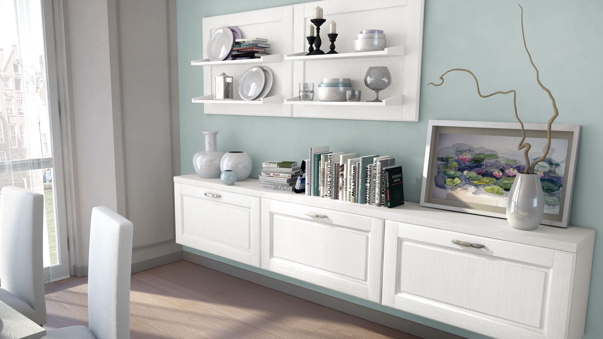 Traditional TV wall unit / wooden - AGNESE - CUCINE LUBE