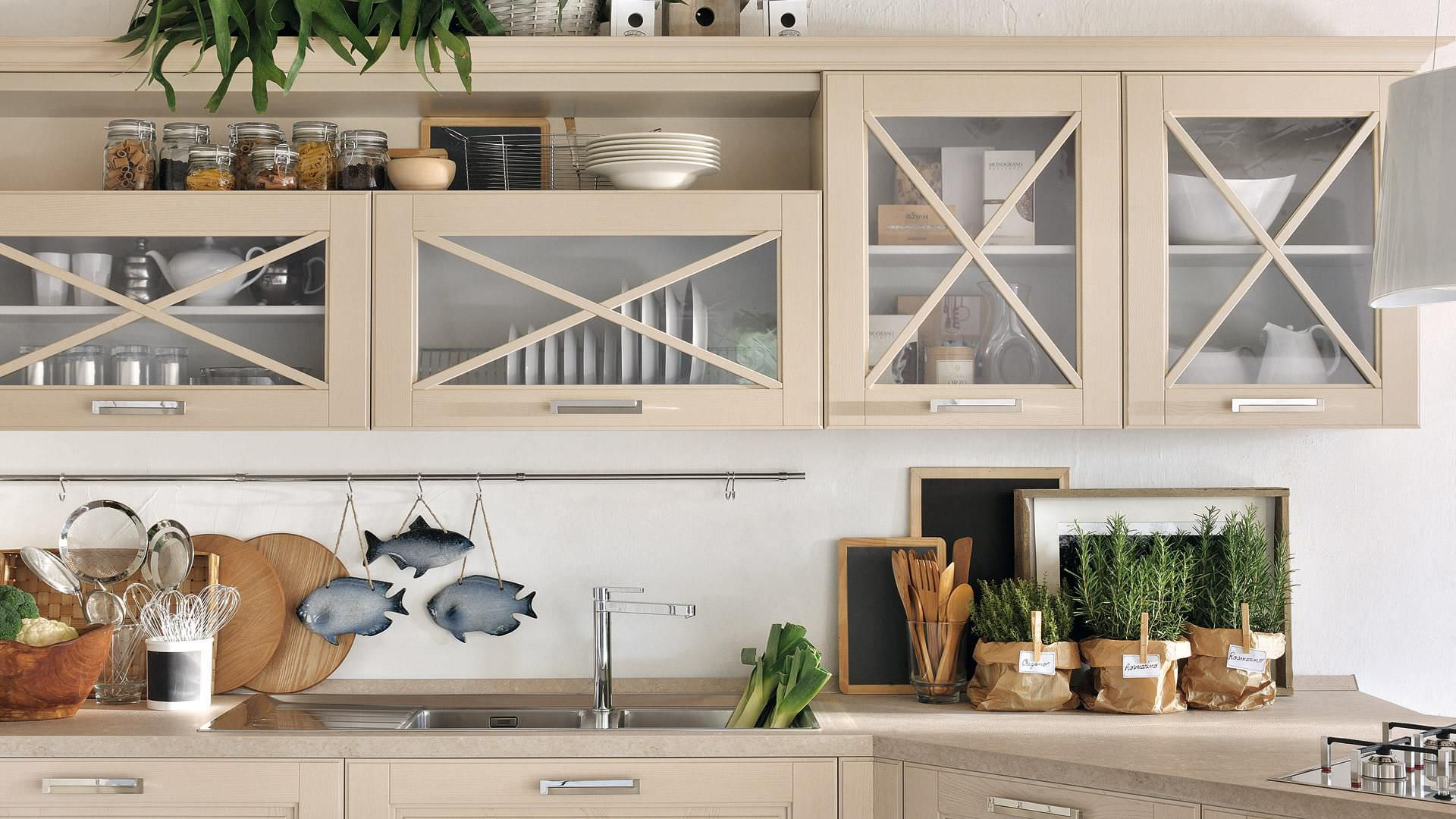 Traditional Kitchen Agnese Cucine Lube Solid Wood With Handles