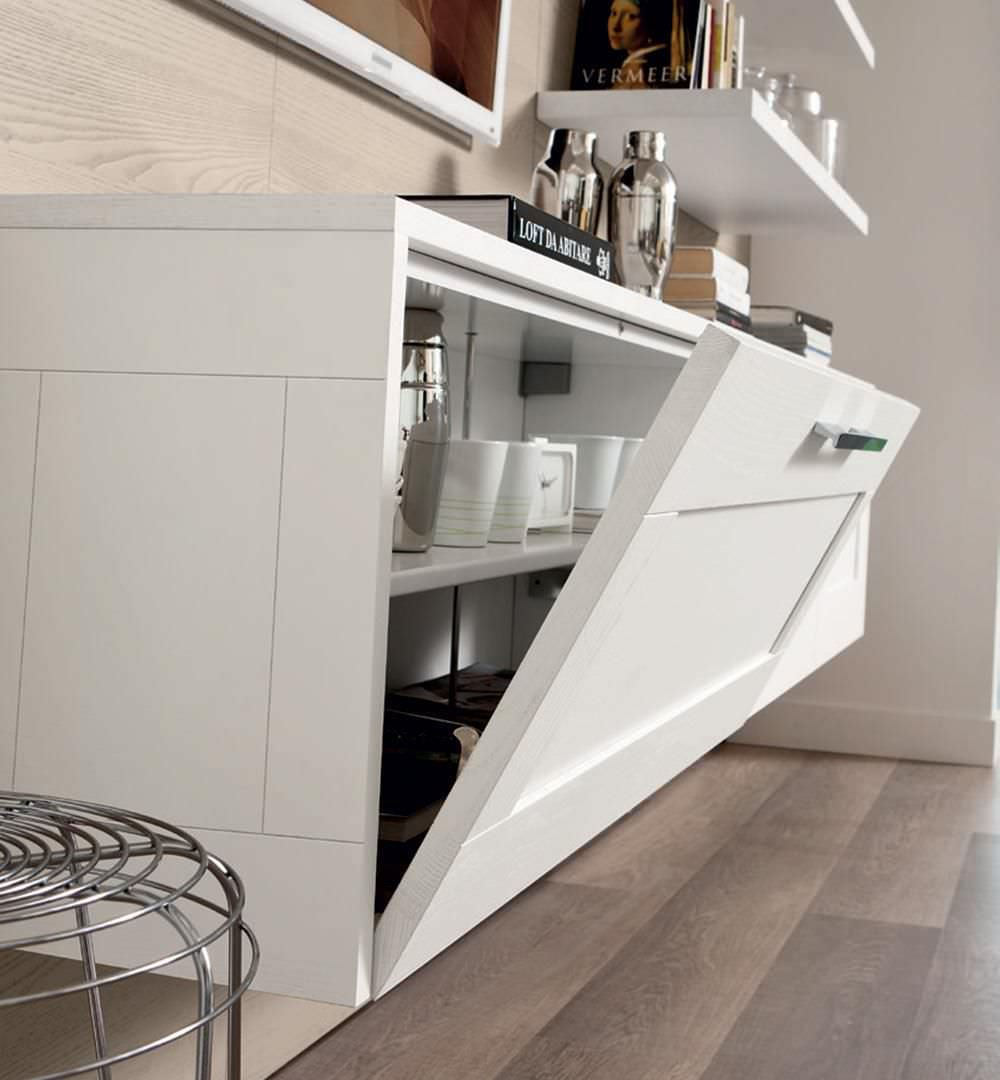 Wall-mounted sideboard / contemporary / wooden - GALLERY ...