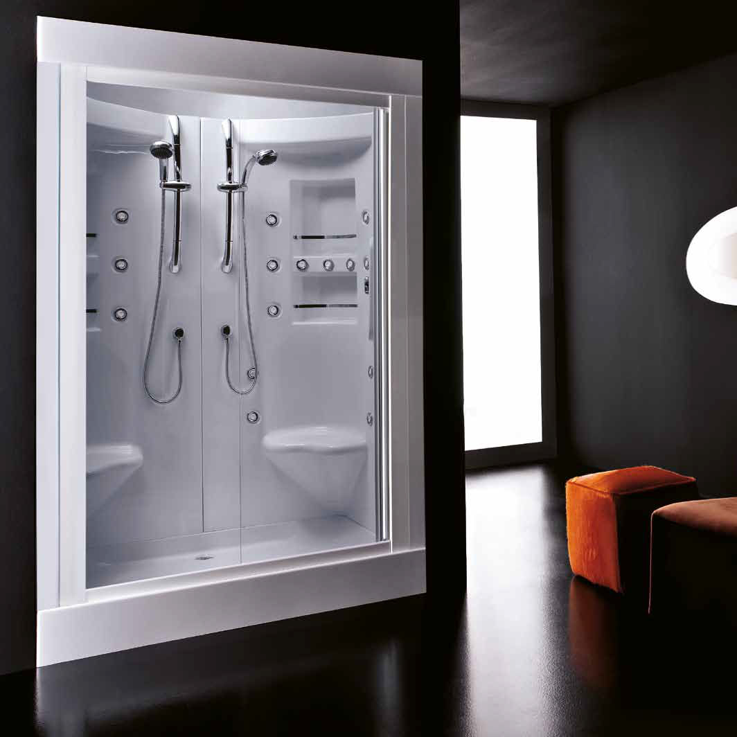 Multi Function Shower Cubicle Glass Rectangular With