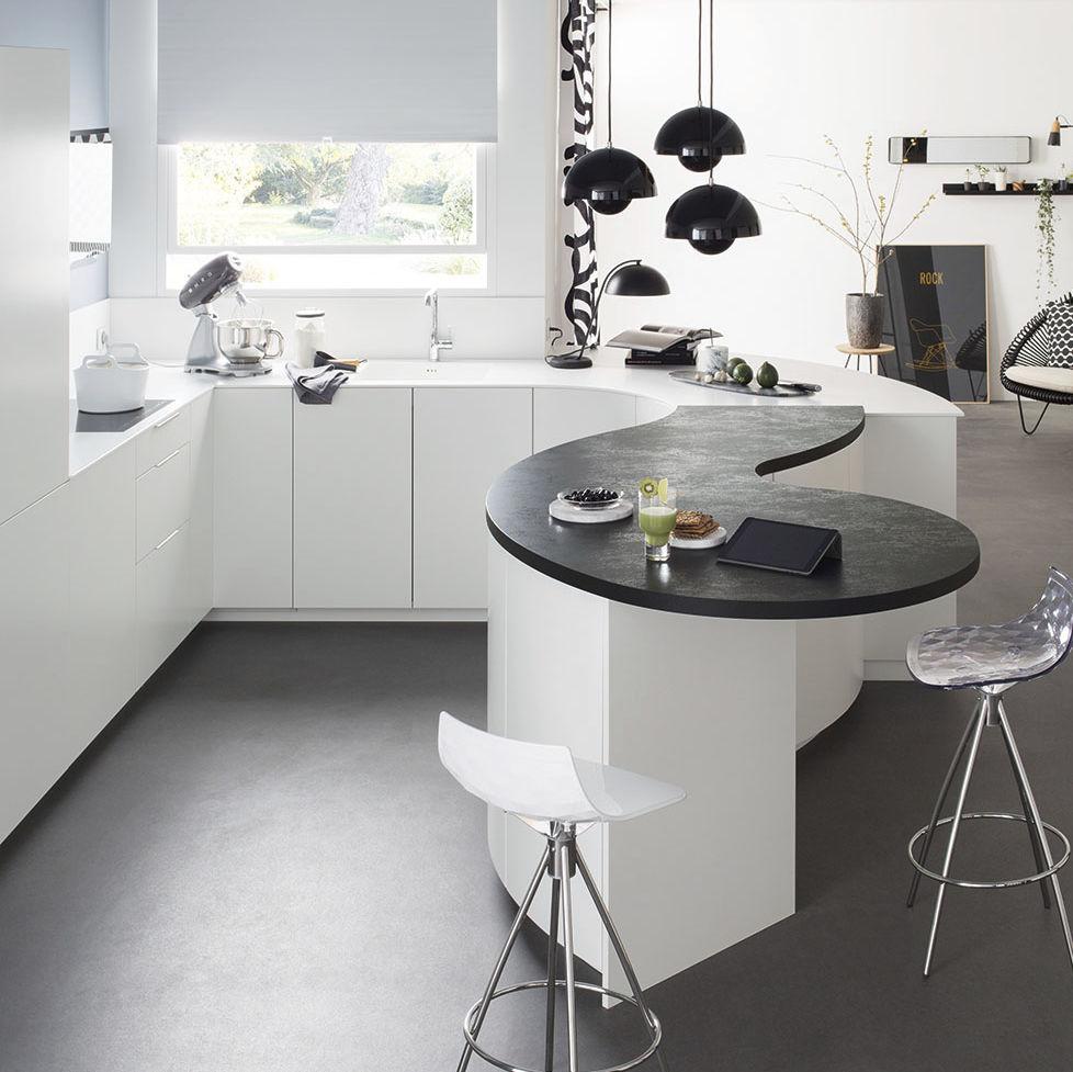 Cuisine Low Cost Mobalpa contemporary kitchen / corian® / laminate / u-shaped