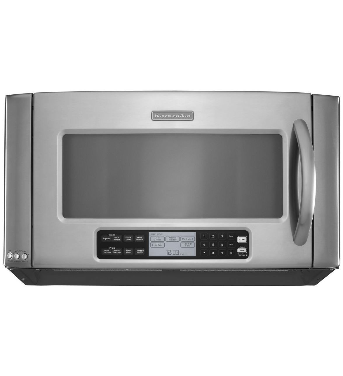 Electric oven / microwave / built-in - KHHC2090SSS - KitchenAid