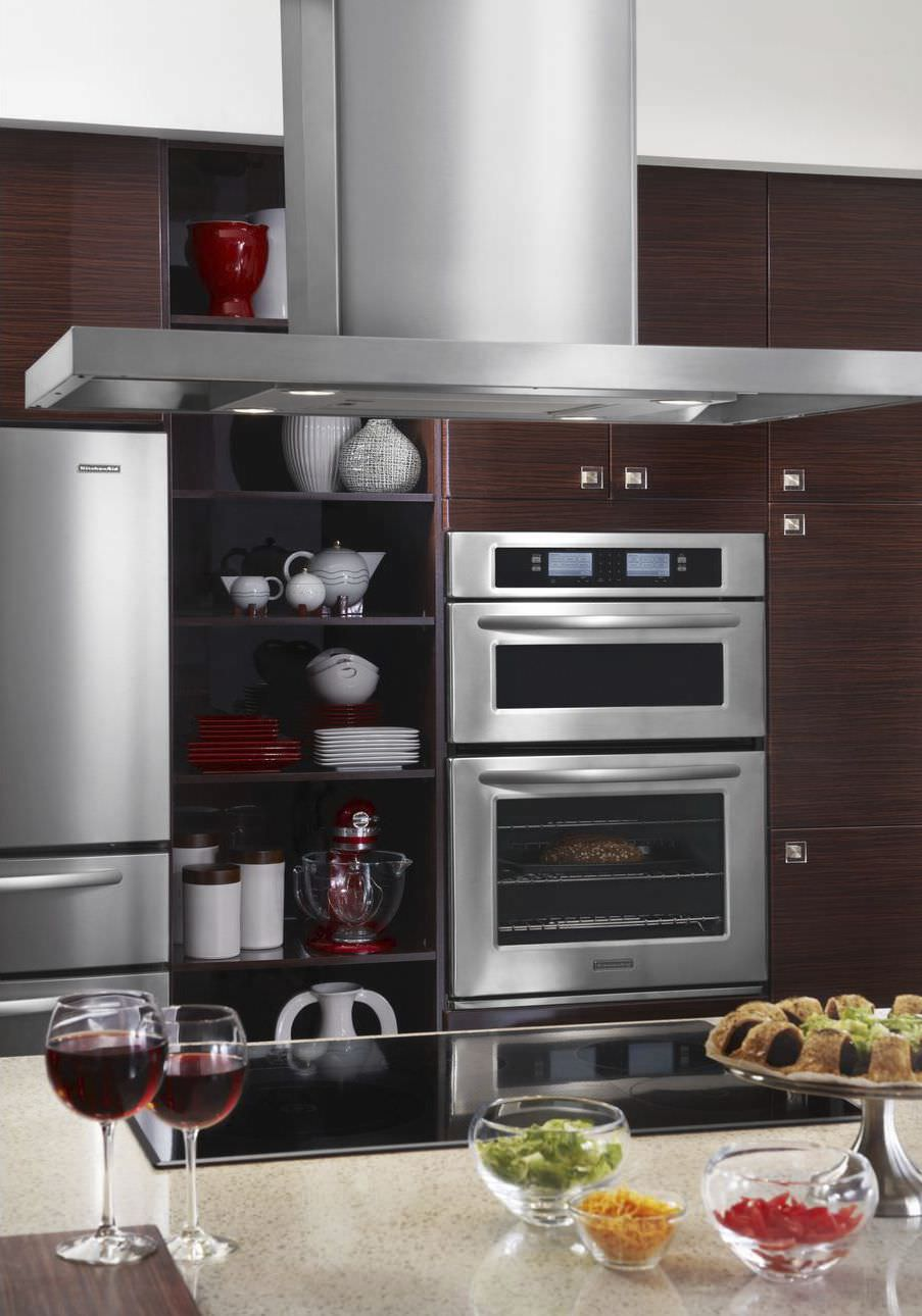 Electric oven / microwave / built-in - KEHU309SSS - KitchenAid