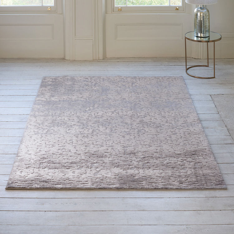 Contemporary rug / patterned / viscose