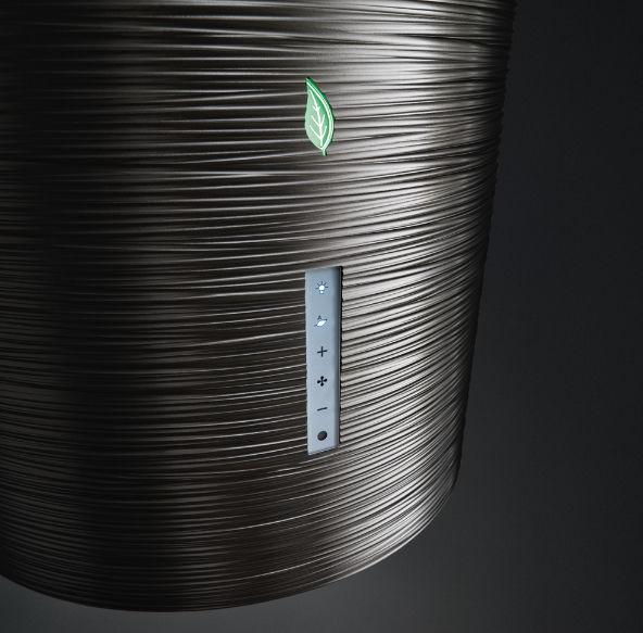 Falmec extractor hoods E.ION wall or island extractor hood TWISTER
