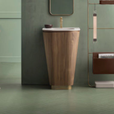 Strange Free Standing Washbasin Conical Wood Bronze Suede 01 Cerasa Pabps2019 Chair Design Images Pabps2019Com