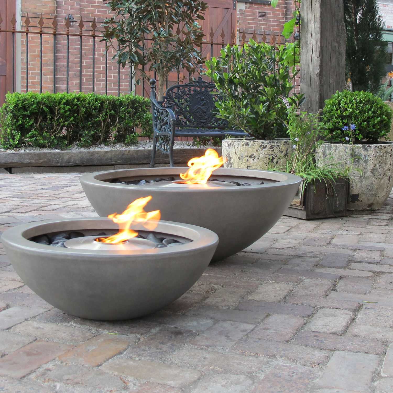 Bioethanol Fire Pit Stainless Steel Concrete Contemporary Mix By Marc Veenendaal