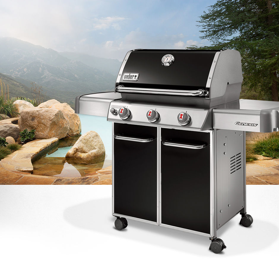 Gas Barbecue Genesis E 310 Weber Usa On Casters Steel